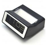 Будильник с термометром (Черный)