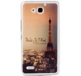 Силиконовый чехол-бампер для Huawei Honor 3X (Париж)
