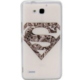 Силиконовый чехол-бампер для Huawei Honor 3X (Супермен)