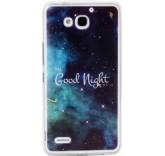 Силиконовый чехол-бампер для Huawei Honor 3X (Спокойной ночи)