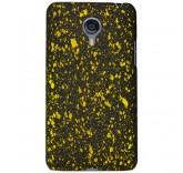 Пластиковый бампер для Meizu MX4 брызги краски (желтый)