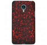 Пластиковый бампер для Meizu MX4 брызги краски (красный)