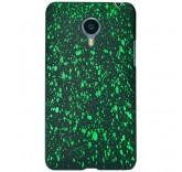 Пластиковый бампер для Meizu MX4 брызги краски (зеленый)