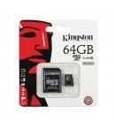 Карта памяти Kingston micro SDCX 64GB class 10