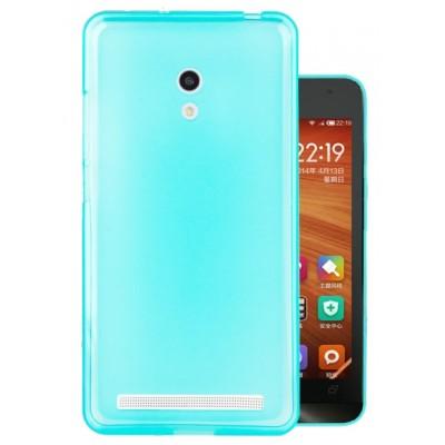 Купить Силиконовый чехол для Asus Zenfone 6 синий с доставкой по России